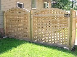 vinyl lattice fence panels. Arched Square Lattice Wood Fence Vinyl Panels