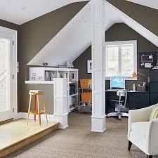 home office design ideas. Cool Attic Home Office Design Ideas