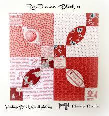 Charise Creates: Vintage Block Quilt Along - Block #1, Rose Dream & Vintage Block Quilt Along - Block #1, Rose Dream Adamdwight.com