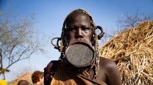 the ethiopian tribe where a lip plate