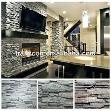 interior faux stone wall indoor accent with brick fireplace decor