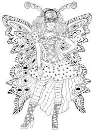 Disegno Di Ragazza Col Costume Da Farfalla Da Colorare Disegni Da