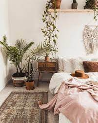 love the plants chic bedroom decor
