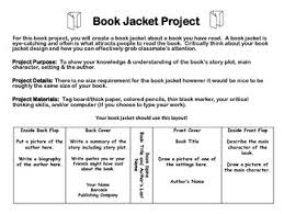 book jacket project checklist and rubric