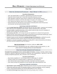 cio chief information officer it service military resume example