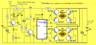 mhz links 5 channel receiver using h bridge transistors