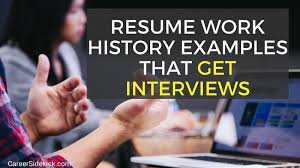 How Much Work History On Resumes 3 Resume Work History Examples And How To Write Yours