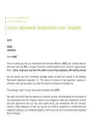 Employment Separation Letter Template