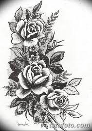 эскиз розы для тату девушке 08032019 011 Tattoo Sketches