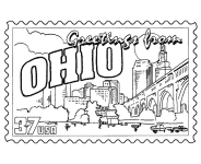 Small Picture USA Printables State of Ohio Coloring Pages Ohio tradition and