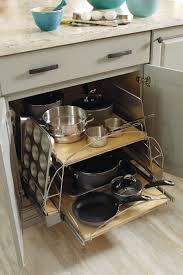 Base Pots and Pans Pullout - Schrock Cabinetry