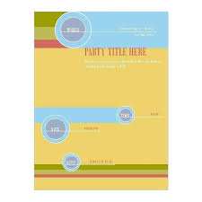 Word Flyer Templates Free Download Blank Event Tear Off