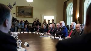 Trump Appointees Take Turns Praising Him in Bizarre Cabinet ...