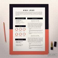 Resume Template Cv Template Design Cover Letter Modern Pop How To Make Coral Color On Microsoft WordL