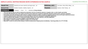 dietitian resume functional resume dietitian sample customer service resume dietitian