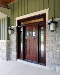 Elegant front doors Modern Black Craftsman Style Front Door Lamps Stone Wall Wood Elegant Entry Takhfifbancom Elegantly Beautiful Craftsman Style Front Doors To Be Amazed By