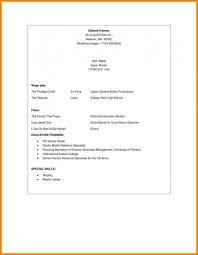 Beginner Resume Beginners Resume Template Awesome Beginner Resume Sample