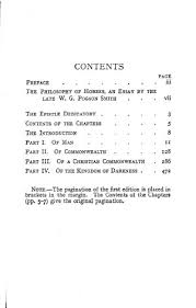 leviathan ed online library of liberty original table of contents or first page