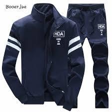 Tracksuit <b>Men</b> Set Sportswear Sweat <b>New Autumn</b> Winter <b>Fleece</b> ...