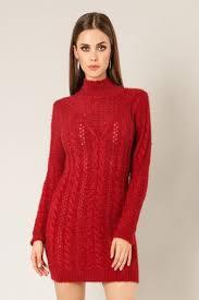 MARIBEL Sweater Knit Mock Neck.