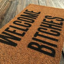 Welcome Bitches – Natural Coir Doormat – Offensive Living
