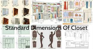 standard closet dimensions. Standard Dimensions That A Closet Can Have Offering Huge Storing D