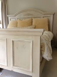 chalk paint bedroom furniture. Bed Painted With Annie Sloan Old Ocre Chalk Paint Distressed And Finished Clear Dark Waxes Bedroom Furniture