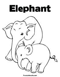 Elephant Coloring Page Trustbanksurinamecom