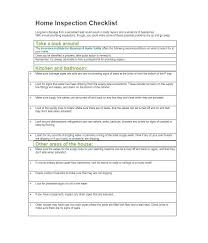 Checklist Blank Template General Home Inspection Checklist Template Blank Forms Report