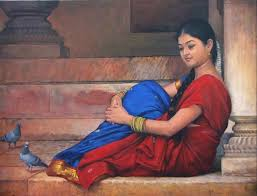 south indian women paintings