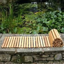 swinging wooden garden path wooden garden path diy wood slab garden path