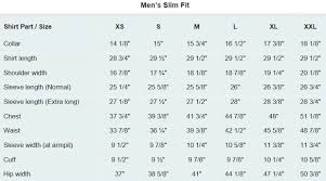 Pendleton Shirt Size Chart Mens Dress Shirt Measurement Guide With Size Chart