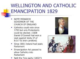 「1829, Catholic emancipation, Catholic relief proclaimed」の画像検索結果