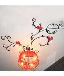 pindia black and red roof chandelier design wall sticker
