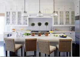 Bright Kitchen with Glass Cabinets