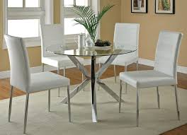 modern kitchen table and chairs for best clio modern round glass kitchen table