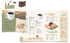 Word Templates Menu Coffee Shop Menu Template Word Publisher