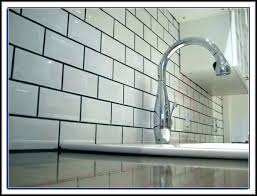 subway tile gray grout beveled white subway tile grey grout color