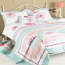 Riva Home Harriet Floral Embroidery Duvet Cover Set, Duck Egg Blue ... & Riva-Home-Harriet-Floral-Embroidery-Duvet-Cover-Set- Adamdwight.com