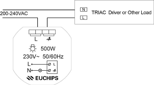 euchips launched new led dimmers the wiring diagram of triac dimmer walldim105