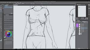 ics how to draw female t shirts properly