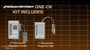 PowerBridge ONE-CK In-Wall Power Cable Management Connector Kit - YouTube