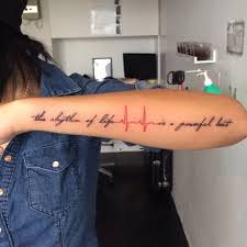 25 Heartbeat Tattoo Ideas And Design Lines Feel Your Own Rhythm