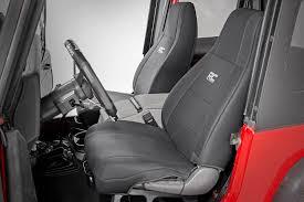 jeep neoprene seat cover set black 87