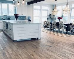 as there are types of trees each with characteristic grain hardness and color here s a short list of the most common types of wood used for floors