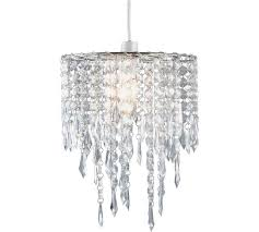 argos home beaded light shade clear lamp shades satisfying chandelier local
