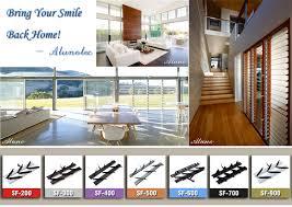 aluminium 19mm wood blade louver window frame