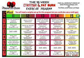 the 15 week weights fat burn exercise