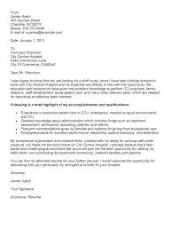 Sample Cover Letter Rn Sample Application Letter For Staff I Want To