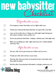 Things To Do With A Babysitter Five Things Your New Babysitter Wishes Youd Do Parenting Tips
